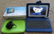 """Tablet z klawiaturą zielony dla dziecka 7"""""""