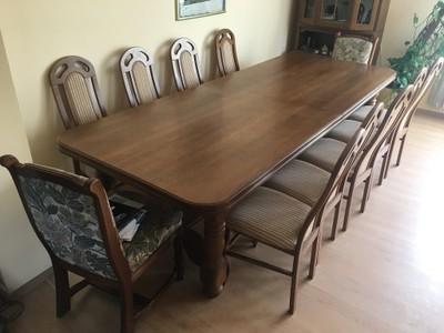 Duży Stół Dębowy Krzesła 6588762459 Oficjalne Archiwum Allegro
