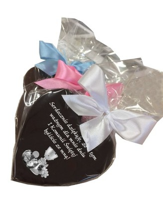 7dfd70a823 Podziękowania dla gości Komunia Bilecik czekoladka - 6762918563 ...