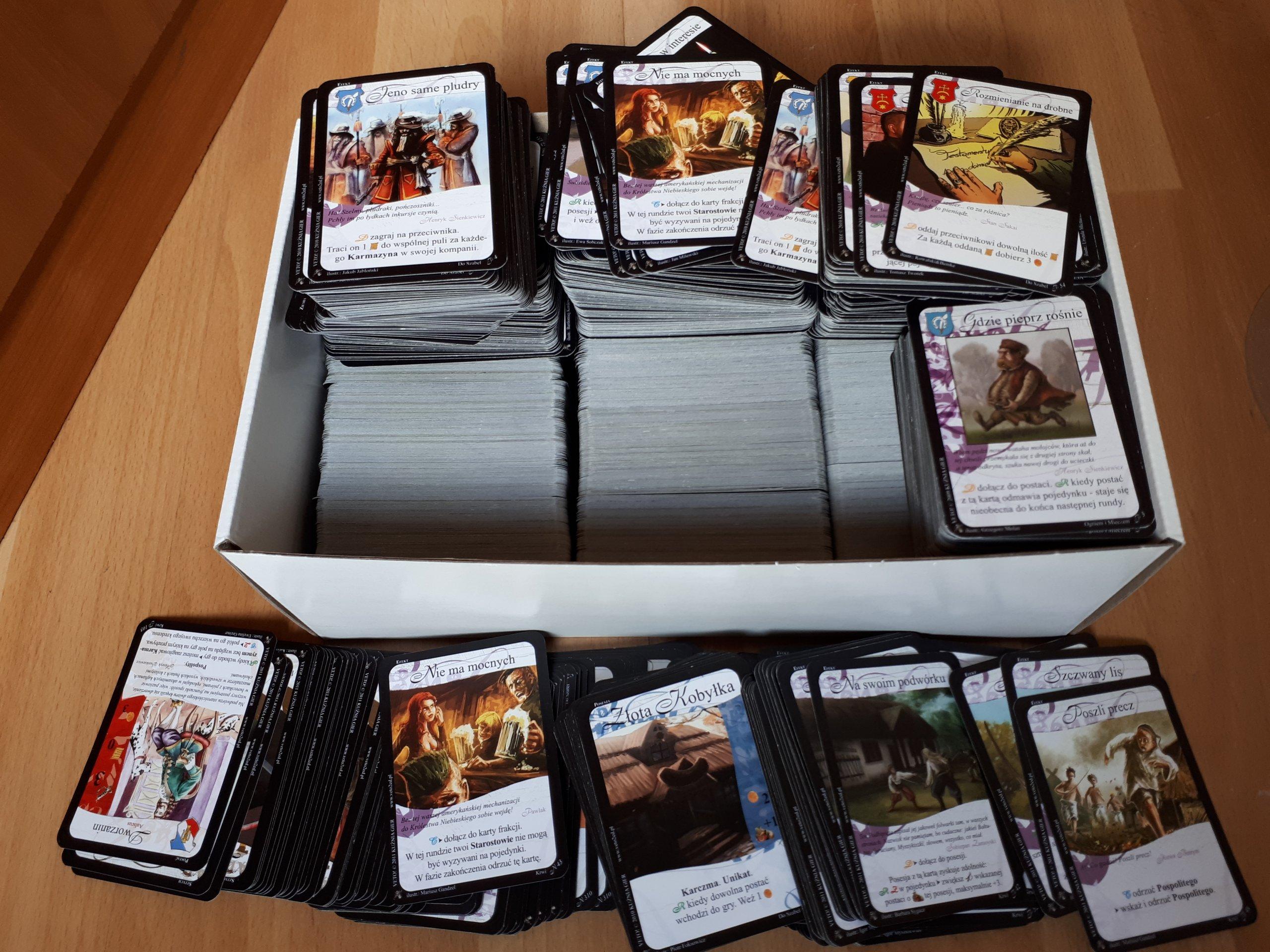 Duża kolekcja kart do Veto! - kolekcjonerskie