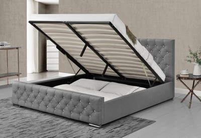 łóżko Tapicerowane Materiałowe 1151g 160x200 6873268671