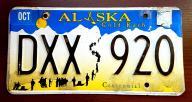 Alaska 2014 - tablica rejestracyjna USA