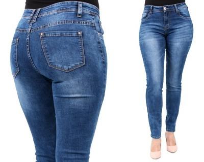 2f67f5badc DAMSKIE spodnie JEANS duże rozmiary 40