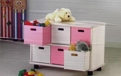 Regał, komoda dla dzieci na kółkach  ESCASA Drewno