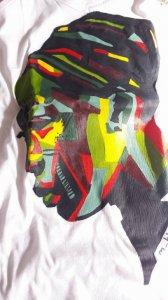 Koszulka damska, ręcznie malowana Zambia 2016