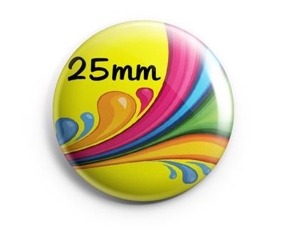 PRZYPINKI PRZYPINKA Z WŁASNYM NADRUKIEM 25mm