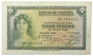 15.Hiszpania, 5 Peset 1935, P.85.a, St.3+