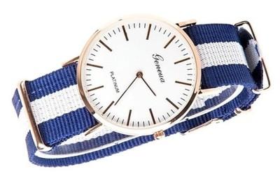 Zegarek Złoty nylonowy pasek GENEVA MĘSKI ZK99 nr5