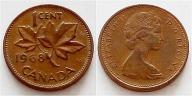 Kanada 1 cent 1968r