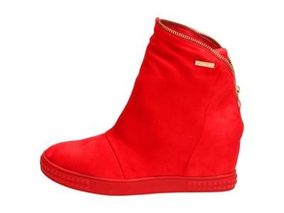 allegro czerwone buty damskie na zime