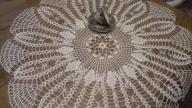 serweta szydełkowa serwetka obrus 75cm