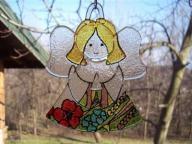 aniołek witrażyk szkło prezent maki