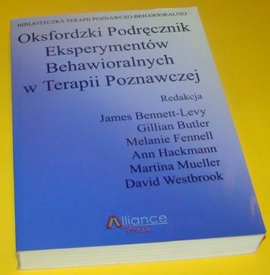 oksfordzki podręcznik eksperymentów behawioralnych w terapii poznawczej pdf