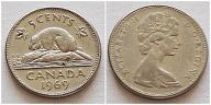 Kanada 5 centów 1969r