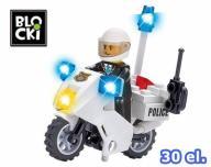 KLOCKI BLOCKI POLICJA MOTOCYKL POLICYJNY 30 el.