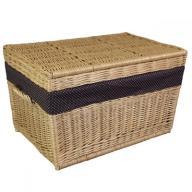 Kufer skrzynia z wikliny obszyta 60 cm WIKLINA