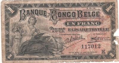 1 frank (Elizabethville) z 1914r Kongo Belgijskie