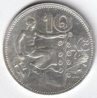 Czechosłowacja / 10 koron / 1931 / srebro