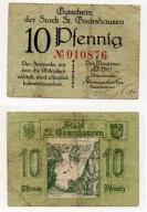 NIEMCY / ST. GOARSHAUSEN ND 10 PFENNIG