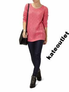 Sweter damski RESERVED 38-M różowy warkocz