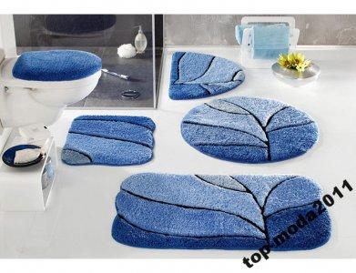 H49 My Home 2 Dywaniki Do łazienki Niebieskie