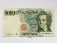 Włochy 5000  Lirów z 1985 roku