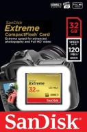 SANDISK 32GB Compact Flash EXTREME CF +120/85MB/s