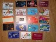 Karty telefoniczne karty bankomatowe i inne karty
