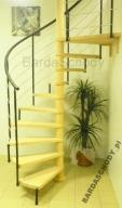 Schody kęcone BARDA-LIZBONA 150 cm 12 elementów