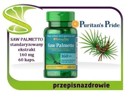 Puritan's Pride SAW PALMETTO Palma SABAŁOWA Ekstra