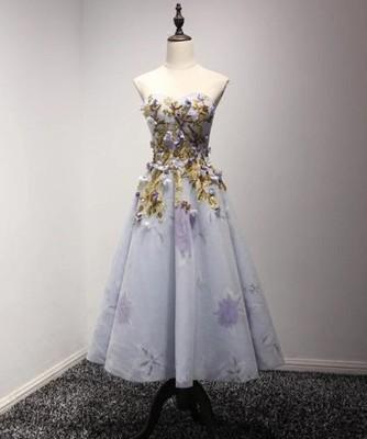 f9bf740bfc Luksusowa sukienka zdobiona sznurowana kwiaty 3D - 6783675723 ...