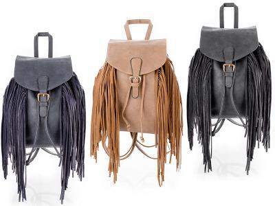 Plecak Damski z Frędzlami Plecaki Vintage Frędzle