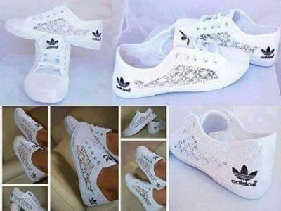 Damskie buty trampki tenisowki adidas z koronką
