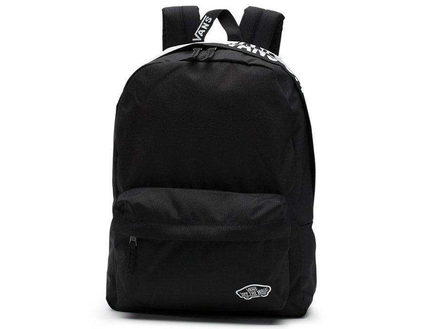 czarny plecak z vansa
