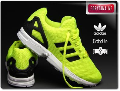 buty adidas zx flux neonowe