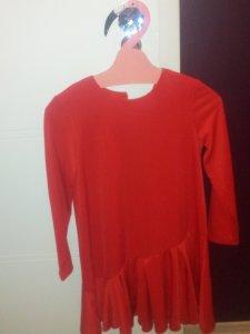 031585ae sukienka Mohito XS czerwona falbanka HIT LATA