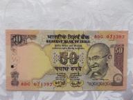 INDIE 50 RUPII MAHATMA GHANDI 2007 r. St. ( UNC )