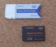 Karta pamięci Memory Stick ProDuo +adapter MSAC-M2