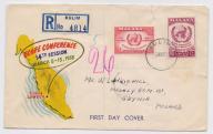 Malezja - koperta polecona z 1958 roku