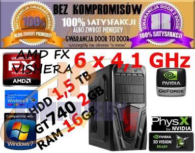 KOMPUTER GRACZ 6x4,1 16GB 1,5TB GT740_2GB WIN8.1E
