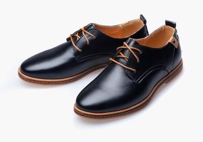 Sznurowane buty za kostkę męskie, eleganckie, skórzane