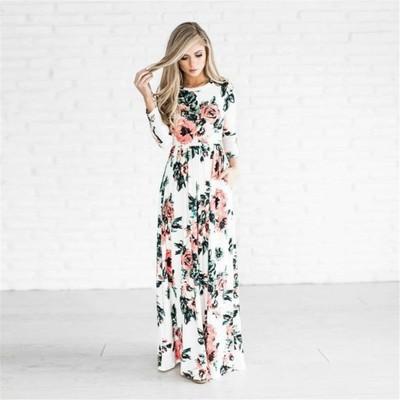 53b9f46842 FC-A75 sukienka MAXI BOHO kwiaty ROZMIARY PIEKNA - 6979437770 ...