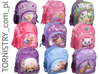 ebe03c942e524 Plecak/Tornister szkolny dla dziewczynki 10 wzorów - 2385034815 ...