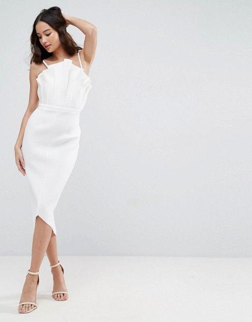 cfc1fd830c ASOS PREMIUM Biała sukienka na ramiączkach (32) - 7035674889 ...