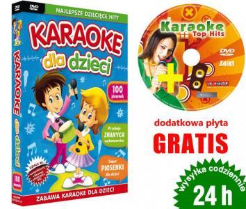 KARAOKE dla Dzieci 100 pios DVD + GRATIS