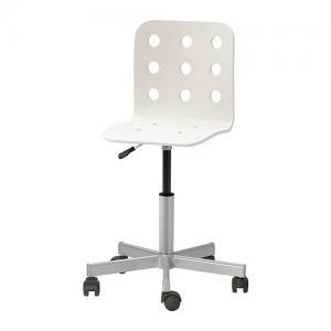 IKEA JULES Krzesło młodzieżowe, biały, srebrny