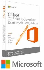 Microsoft Office Home Busines PC 2016 32/64bit PL