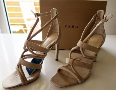 7ad293ea740949 piękne sandały ZARA rozm. 38, beżowe, NOWE,OKAZJA! - 6348691753 ...