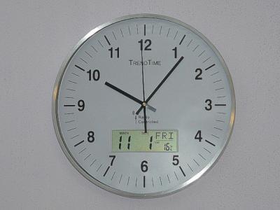 Zegar ścienny Radiowy Dcf 35cm Z Datownikiem