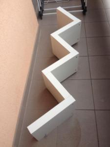Półka ścienna Na Książki Ikea Zygzak